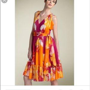 Diane von furstenberg wrap floral dress